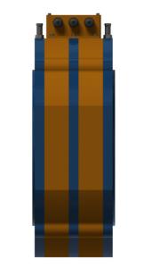 Модуль iEM-II с жидкостным охлаждением (вид сбоку)